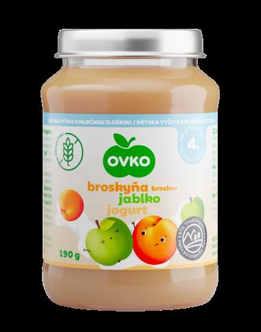 Broskyňa, jablko, jogurt